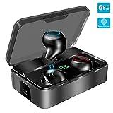 YONMIG Bluetooth Kopfhörer in Ear, Kabellos Bluetooth 5.0 Headset mit 3000mAh Ladebox Wireless Noise Cancelling Earbuds 90H Stunden Spielzeit Sport Wasserdicht IPX7 Ohrhörer mit Mikrofon