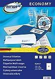 europe100 ELA027 Universal Etiketten A4 (210x297 mm, 100 Etiketten auf...