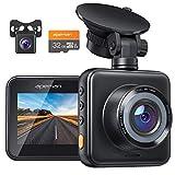 APEMAN Dashcam Vorne und Hinten Autokamera mit MicroSD-Karte, 1080P HD...