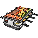 AONI Raclette grill Rauchfreier grill...