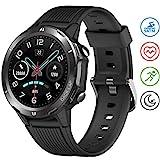 UMIDIGI Smartwatch Uwatch GT Fitness Tracker Armbanduhr Sportuhr Smart Watch für Damen Herren mit Herzfrequenz Schlaftracker 5 ATM Wasserdicht Kompatibel mit Android IOS Xiaomi Samsung, Matt-Schwarz