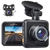 APEMAN Dashcam Vorne und Hinten Autokamer, 1080P FHD Mini Dual Lens Kamera with Dual 170 ° Weitwinkel mit Nachtsicht, G-Sensor, Parküberwachung, Loop-Aufnahm und WDR