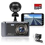 Abask Dashcam Auto Vorne und Hinten Autokamera mit 32 GB SD-Karte, 4...