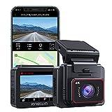 Kingslim 4K Dashcam mit WiFi GPS,2 Zoll...