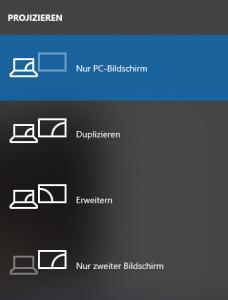 Bildschirmeinstellungen am Laptop ändern - Bildquelle ändern
