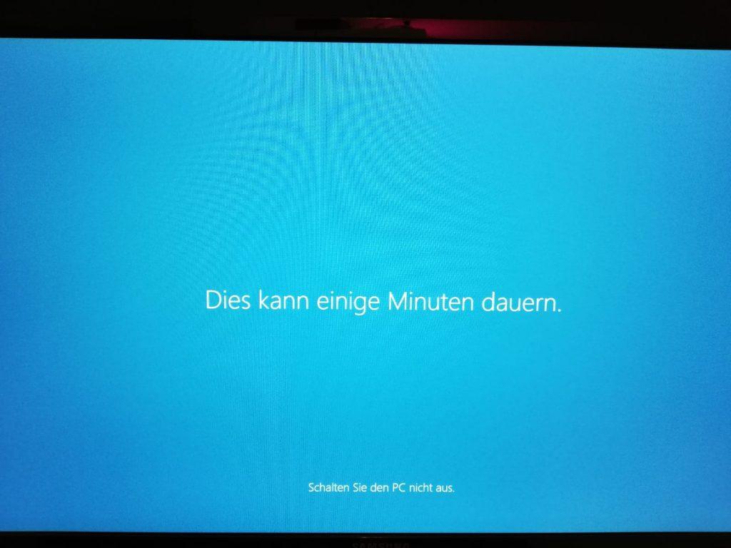 Abschluss der Windows 10 Installation und der Einrichtung