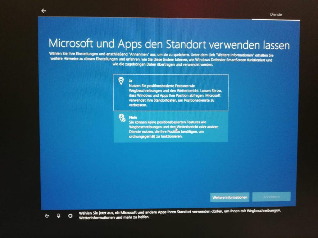 Windows 10 Standort ermitteln lassen