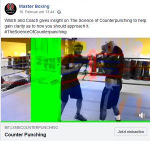 doppeltes Bild und grüner streifen in Facebook und YouTube Videos