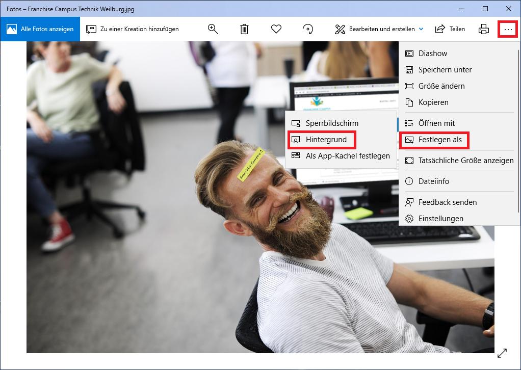 Desktop-Hintergrund einfach ändern