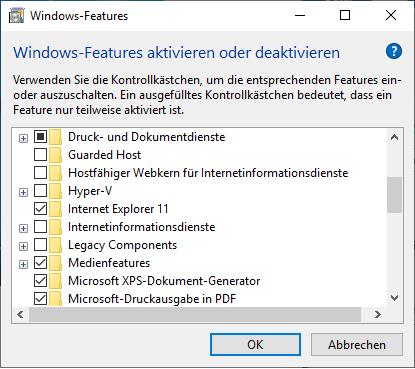 Internet Explorer deinstallieren Windows 10