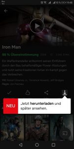Netflix Filme downloaden und später anschauen