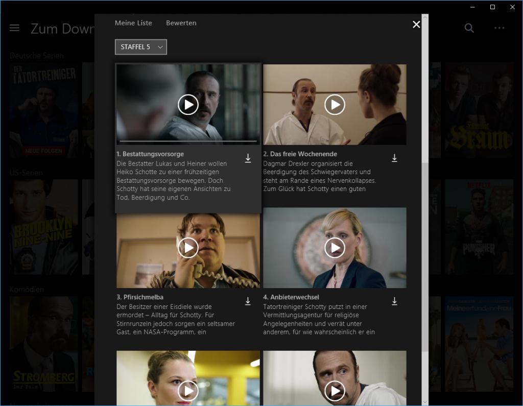 Netflix Filme und Serien downloaden - so gehts