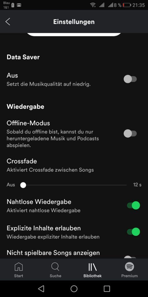 Spotify ohne Internet nutzen