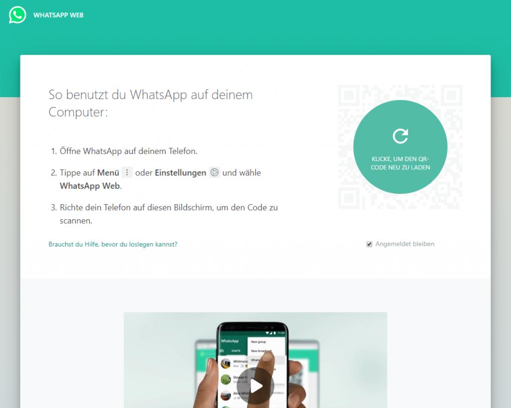 WhatsApp ohne Handy nutzen: WhatsApp Web