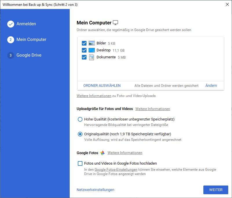 Google Drive Ordner am PC erstellen