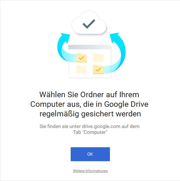 Ordner auf dem Computer auswählen Google Drive