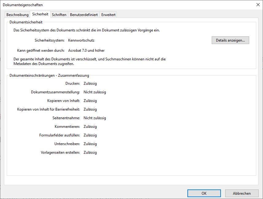 PDF Passwort entfernen