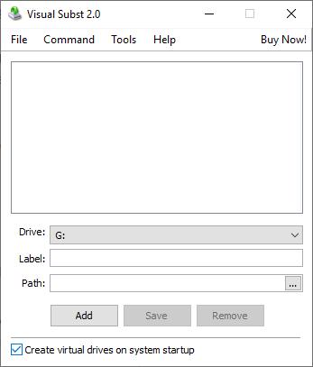 Visual Subst Google Drive als Laufwerk einrichten