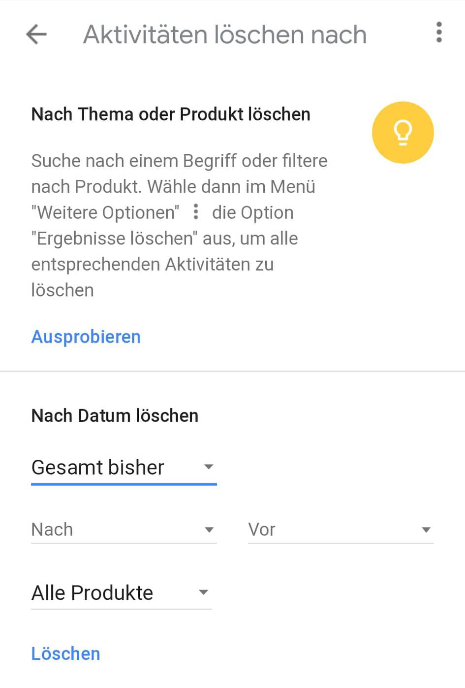 google-suchverlauf-android-entfernen