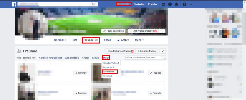 Facebook Abonnenten anzeigen lassen