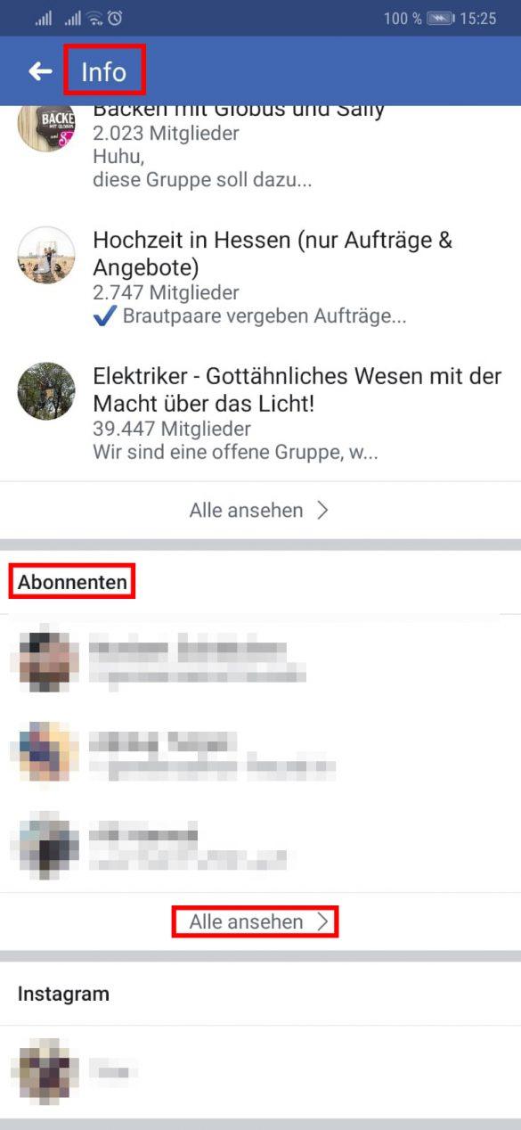 Facebook: Wo kann ich sehen, wer mich abonniert hat