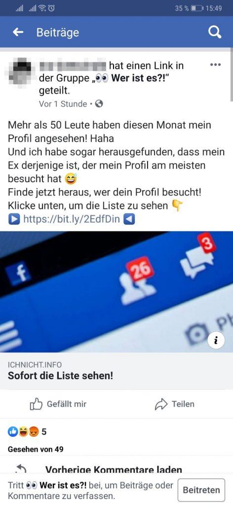 Facebook: Wer hat mein Profil angesehen - fieser Trick