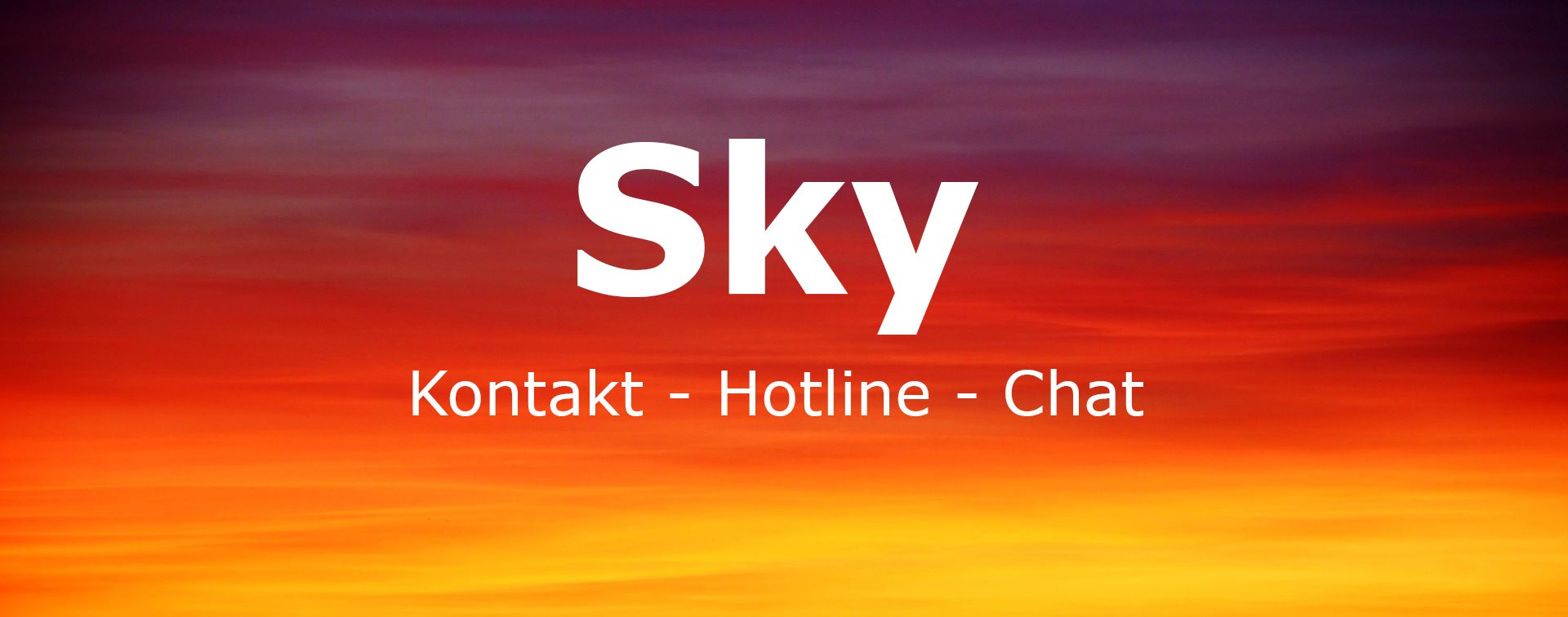 Kostenlose Hotline Sky