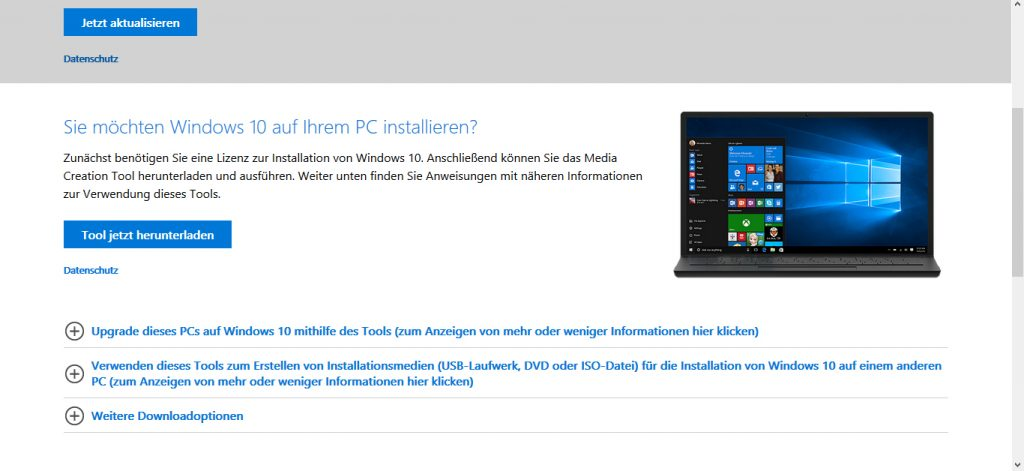 Windows 10 Image downloaden