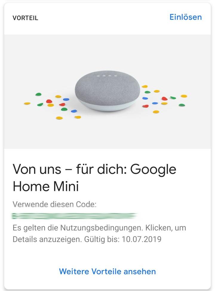 Google One Google verschenkt Google Home an ausgewählte Kunden