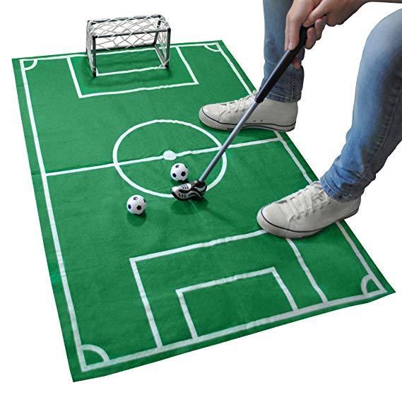 Fußballmatte für das heimische WC