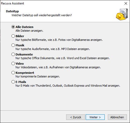 Recuva: Wiederherstellung von Dateien, Fotos, Videos und Dokumente - Datenrettung