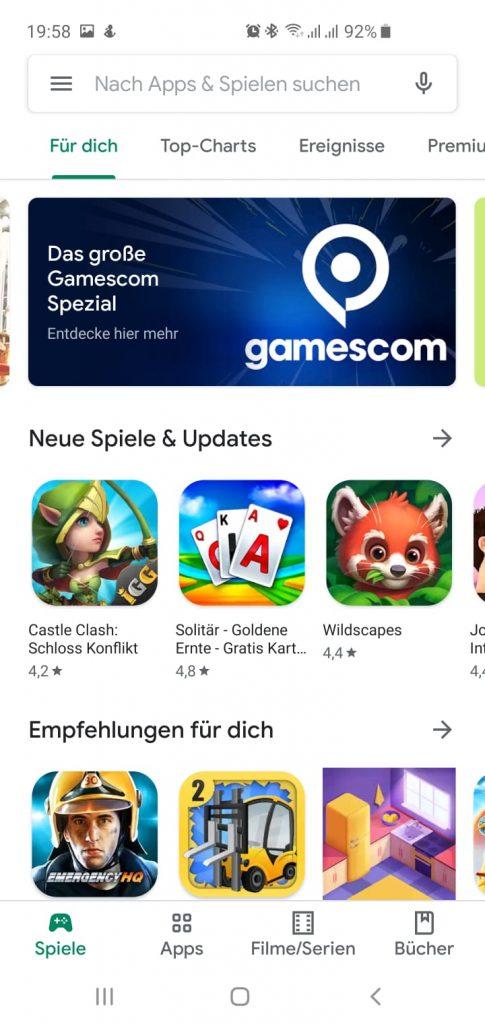 Google Play Store neuer Look