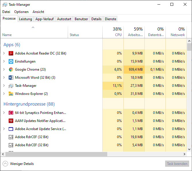 Task-Manager starten / öffnen: Windows 10 / 7 / 8