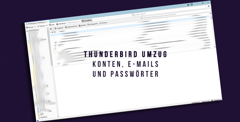 Thunderbird Konten Exportieren
