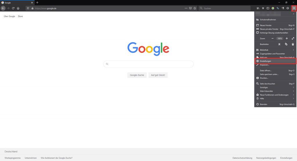 Suchmaschine unter Mozilla Firefox ändern