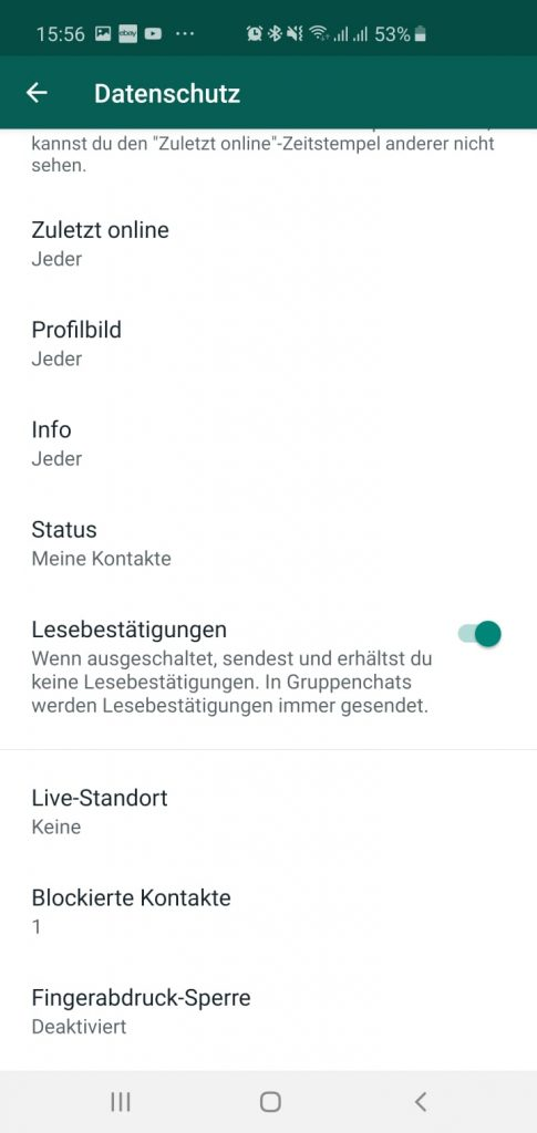 Whatsapp Fingerabdruck