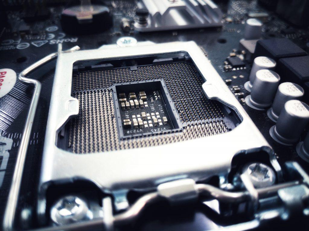 Prozessor Sockel auf einem Mainboard