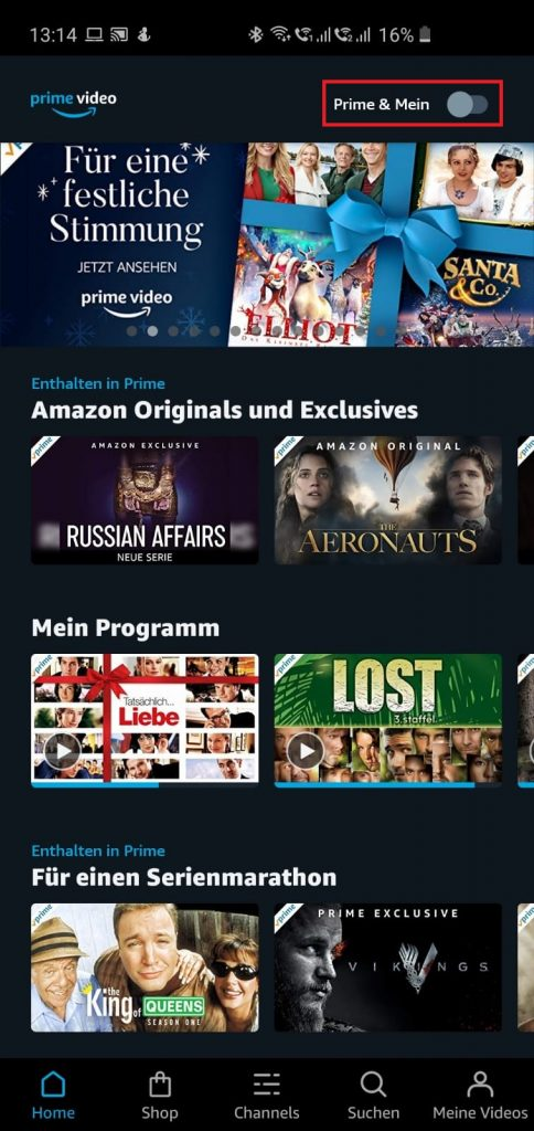 Neue Filter-Funktion in der Amazon Prime Video App