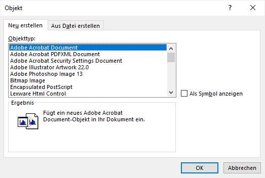 PDF in Word einfügen - so geht´s