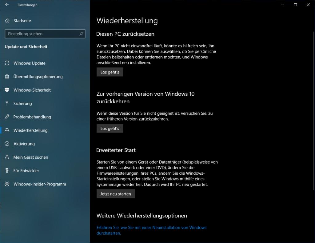 Windows 10: Systemwiederherstellung durchführen - so geht´s