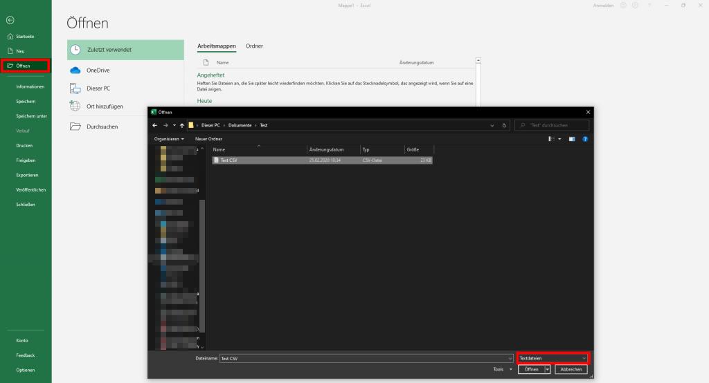 CSV-Datei in Excel öffnen - so geht´s