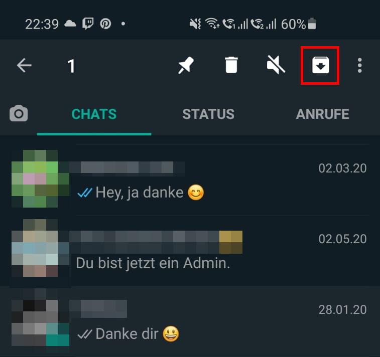 WhatsApp Chats mit Archivieren-Funktion verstecken