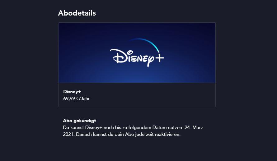 Disney Plus Abo kündigen - so gehen Sie vor
