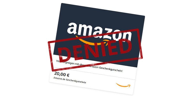 Amazon Gutschein Bekommen