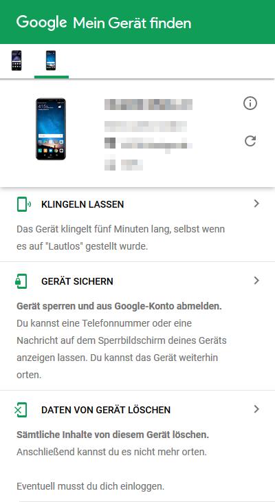 Mein-Gerät-finden-Google