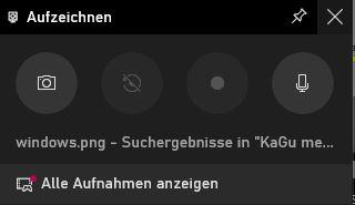 Windows 10 Bildschirmaufnahme starten