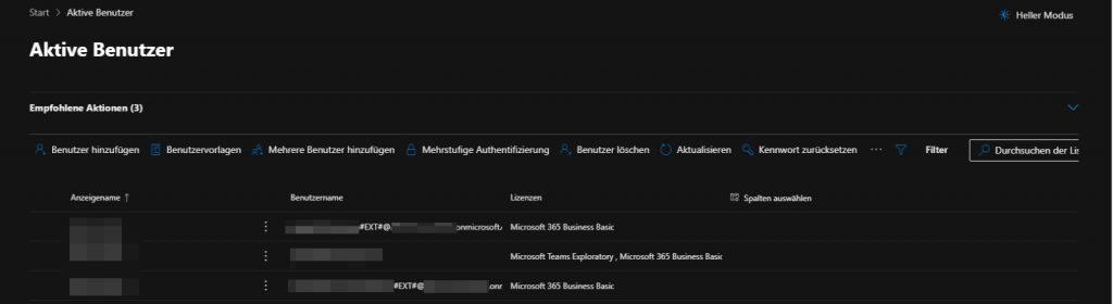 Teams Benutzer als externer Benutzer -Gast - hinzugefügt