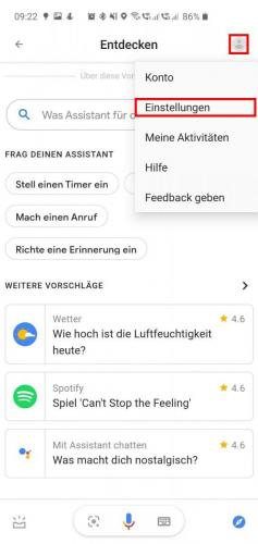 Assistant Stimme