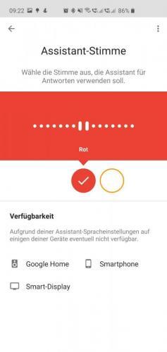 Google Stimme ändern